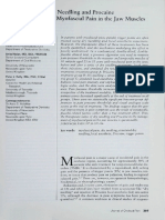 The Efficacy of Dry Needling and Procaine in the Treatment of Myofascial Pain in the Jaw Muscles