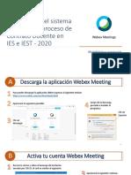 Guía del uso del sistema Webex