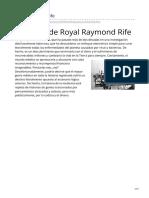Biografía Raymond Royal Rife