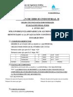 EXAMEN DE DIBUJO INDUSTRIAL II