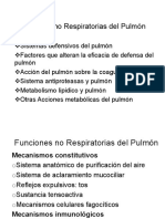 Funciones no Respiratorias del Pulmón