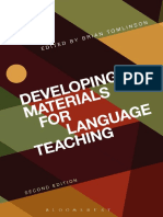 Tomlinson, B. (2003). Developing Materials for Language Teaching