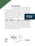 3.1 Condensadores y Dieléctricos