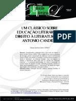 Um clássico sobre educação literária - O direito à literatura, de Antonio Candido