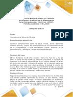 Casos Psicopatologia y Contextos 16-01 2020 UNAD Colombia