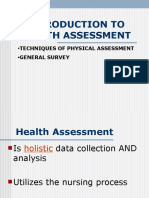 WEB Intro to Health Assessment- Techniques-General Survey (1).ppt