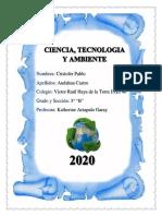 Ficha de Trabajo CORONAVIRUS - Ciencia y Ambiente