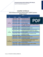 OGPV Course Schedule