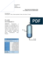 informe flahs isotermico