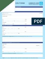 Application Form MSc Programme