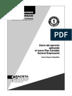 Cierre del ejercicio aplicando el Nuevo Plan Contable General Empresarial, César Roque Cabanillas CPT.pdf