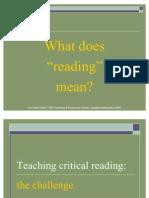 Teach Crit Reading