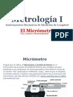 METROLOGIA_USO Y MANTENIMIENTO DEL MICROMETRO
