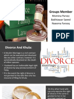 Divorce And Khula Rights in PK