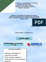 Sistema Informacion Control Gestion Documentos Relacionados Construccion Central Hidroelectrica