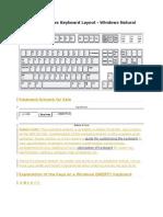 Standard Windows Keyboard Layout