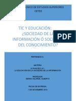 SOCIEDAD DE LA INFORMACIÓN Ó SOCIEDAD DEL CONOCIMIENTO