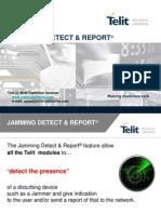 Telit Jamming Detect & Report 7 M2M Platforms Seminar 2007