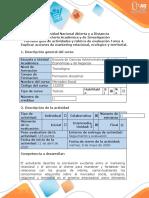 Guía de actividades y rúbrica de evaluación - Tarea 4 - Explicar acciones de marketing relacional, ecológico y territorial