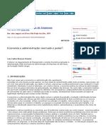 Economia e administração- mercado e poder
