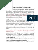 Modelo de Contrato de Servicios de publicidad Multimedios