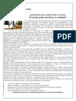 ESPORTE DE AVENTURA  7º ANO