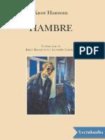 Hambre traduccion de Kirsti Baggethun - Knut Hamsun