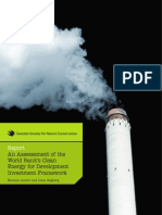An Assessement of the World Bank's Clean Energy for Development Investment Framework