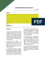 Analisis hidrográfico del territorio de Querocoto