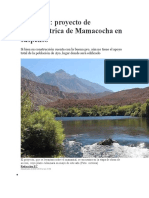 Arequipa proyecto de hidroeléctrica de Mamacocha en suspenso