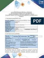 Guía de actividades y rúbrica de evaluación - Tarea  3 - Presentar Informe con la solución de problemas y conceptos de la Unidad 3.docx