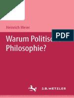 Meier, Warum Politische Philosophie