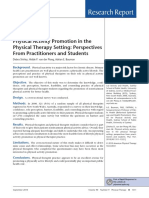 39.Physical Activity Promotion in the Physical Therapy Setting Perspectives From Practitioners and Students
