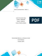 Anexo Taller 2 Fase 3 Desarrollo de la Tarea (2) costos y presupuestos tarea 2
