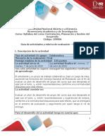 Guía de actividades y rúbrica de evaluación - Unidad 4 - Fase 4 – Concluir