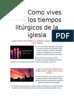 religion los tiempos liturgicos de la iglesia