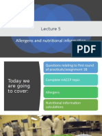 Lecture 5 Allergens and Nutritional information-1