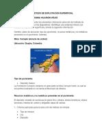CUESTIONARIO III METODO DE EXPLOTACIÓN SUPERFICIAL