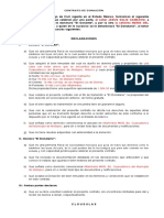 Contrato de Donacion - ESQUEMA