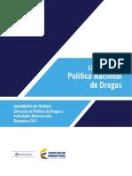 LINEAMIENTOS POLITICA NACIONAL DE DROGAS 2017