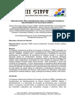 Pibid biologia uma constriubuição para a formação docente e melhoramento da educação básica de Bianca Emanuelly Horbus Pinheiro et al