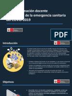 PPT PLAN DE FORMACION VIRTUAL EMERGENCIA COVID19