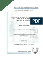 Estudio de Factibilidad Hidrológica de la Presa Alto Amatzinac en el estado de Morelos