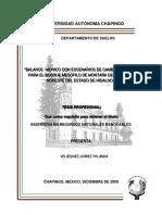 Balance hídrico con escenarios de cambio climático para el BMM de la región noreste del estado de Hidalgo