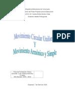 Movimiento Circular Uniforme Y Movimiento Armónico y Simple
