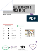 Personal pronouns & verb to be 17-04-20