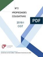 GUÍA N°2 PROPIEDADES COLIGATIVAS CGT
