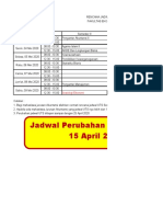 Jadwal UTS Akuntansi Genap 2019
