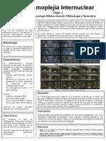 poster oftalmoplejia internuclear