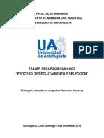 Taller RRHH Reclutamiento y Selección - F. Zuñiga, D. Mora, J. Ramos